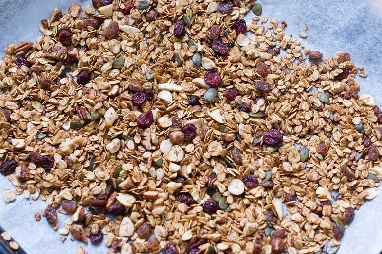 Cómo preparar granola casera (bandeja)