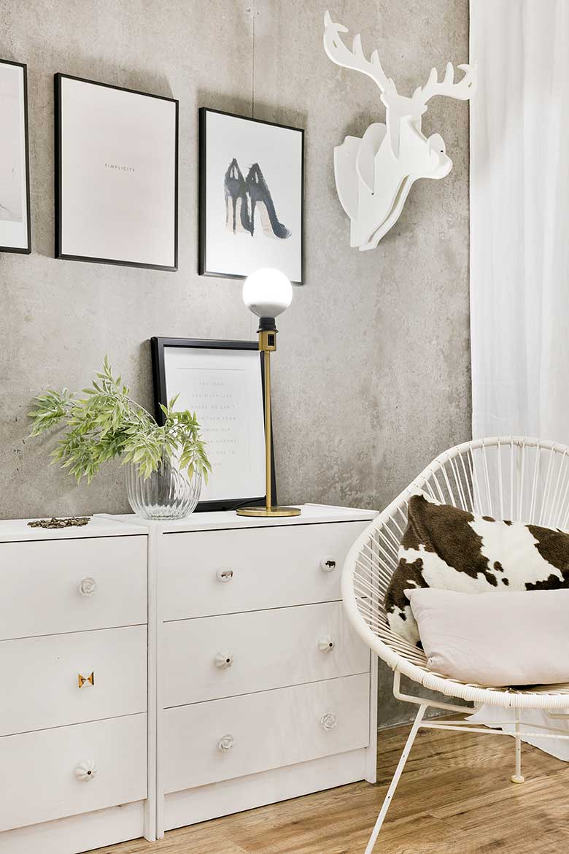 Reforma de estilo nórdico por Dröm Living dormitorio